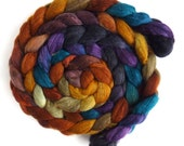 Pre-Order Colorway, African Sunset, Your Choice Fiber, Handpainted Spinning or Felting Fiber