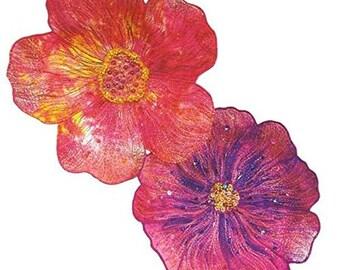 Thread Embellished Flower Bowls Pattern