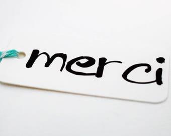 Merci Hang Tags / Thank You Hang Tags / Thank You Tags / Favor Tags / Thank You Gift Tags / Merci Gift Tags / Merci Favor Tags / mad4plaid