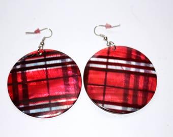 Red Plaid Earrings