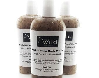 Exfoliating Shower Gel-Wild Currant and Sandalwood-Poppy Seeds-Apricot-Walnut-Botanicals
