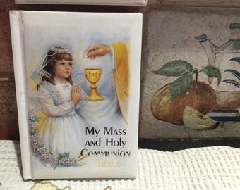 Vintage Catholic Girl First Holy Communion Pryaer Book