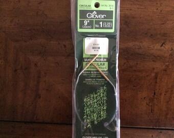 9 inch Circular  Knitting Needles Size 1