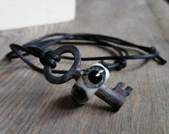 Hazel Eyeball Skeleton Key
