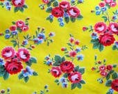 Stunning 1950s French Floral Cotton Fabric
