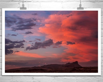 Sunset Photography, Landscape Photograph, Western Picture, Sky and Clouds, Modoc, Lava Beds, Western Landscape, Siskiyou, Murray Bolesta
