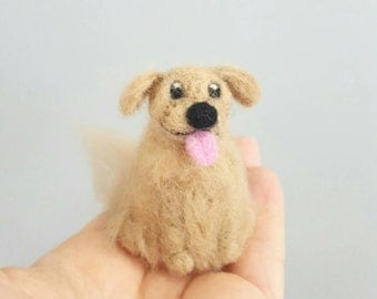 Golden retriever ornament, Custom dog ornament,  Dog lover gift, Custom pet portrait, Dog memorial, Needle felted dog