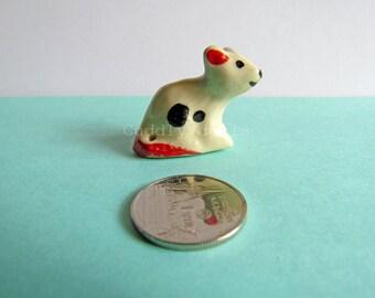 Minitures Rat. Mouse Porcelain Figurine, Mouse Figurine, Animal Figurien Collector, Ceramic Rat figurine,  Porcelaine Collector Figurine