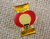 I Heart Golf - Enamel Pin by American Gag Bag Inc. - Vintage Novelty Pin c. 1980s