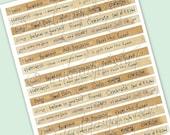 SALE EXPRESSIONS No.2 Collage Digital Images -printable download file Digital Collage Sheet Vintage Paper Scrapbook