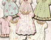 SALE VINTAGE DRESS No. 2 Collage Digital Images -printable download file Scrapbook Printable Sheet