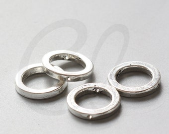 12pcs Oxidized Silver Tone Base Metal Spacers- Beads Frame - Ring 19mm - innner size 13mm  (1192Y-F-443)