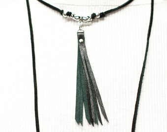 lariat, lariat necklace, leather lariat, leather, necklace, boho, tassel necklace, leather choker, jewelry, stacylynnc, bolo