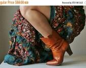 25% OFF SALE 1970s Zag Stitch Boots >>> Women's Size 6 to 6-1/2 (6.5)