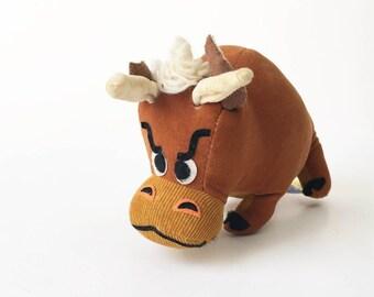 Dream Pets bull Tabasco Stuffed Animal 1970s New old stock Dakin