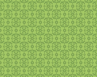 Summer Song 2 ~ Green Damask ~ Blender Fabric ~ Zoe Pearn for Riley Blake ~ Woven Cotton by the Yard