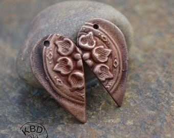 Copper Split Flower Drop Component (1 pair)
