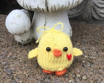 Hand knit Easter Spring Baby Chick
