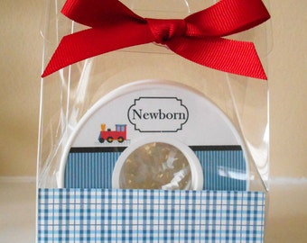 Baby Closet Dividers-set of 9-TRAIN COLLECTION-in Acrylic Gift Box