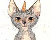 Unicorn Lykoi Fine Art Print