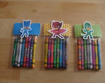 PJ Masks Made To Order Crayon Favor Bags