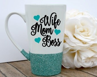 Glitter Mug, Quote Mug, Glitter Dipped, Unique Coffee Mug, Boss Gift, Custom Glitter Mug, Glitter Coffee Mug, Mom Mug