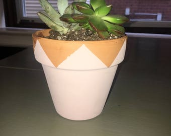 Hand Painted Planter Triangle