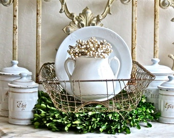 Old Lovely French Wire Drainer Basket