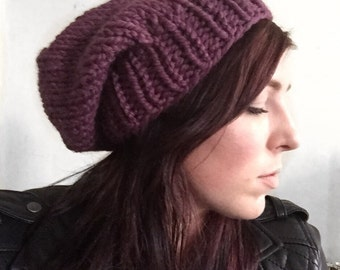 Chunky Knit Slouch Hat Fig