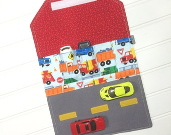 Car Wallet | Traffic Jam | Space | Kids Travel | Car Caddy | Car organizer | Hot Wheels | Gift for kids | Party Favor | Toy Storage