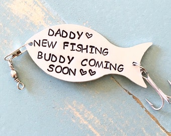 Pregnancy Reveal To Husband, Gift For Fisherman, Fishing Gifts, To New Daddy, New FISHING BUDDY Coming, New Daddy Gift, Fisherman Daddy Gift