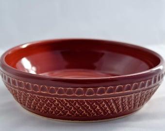 Firebrick Red Mini Casserole Dish / Brie Baker - Ceramic Stoneware Pottery