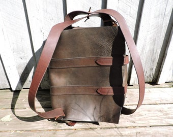 Backpack/ Parachute Bag / Handcrafted / Leather Bag / Minimalist Leather Bag / Leather Backpack/ Water Buffalo