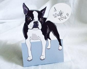 Convo Boston Terrier - Desk Decor Paper Doll
