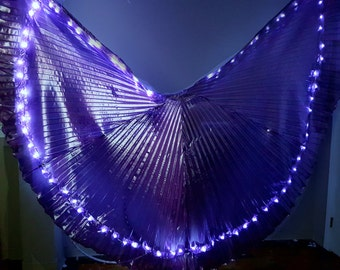 Premade purple angel LED dance wings ready to ship *please read item details