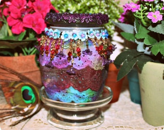 Soy Wax Embellished Candle, Mother's Day Gift Candle, SHaBBy CHiC, Bohemian, ViCToRiaN ,KeePSaKe, Homemade, YOUR SCENT CHOICE, Hand Poured