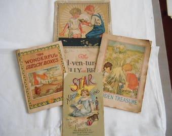4- Vintage Children's Booklets Advertising Postums, Van Camp, and Star Soaps