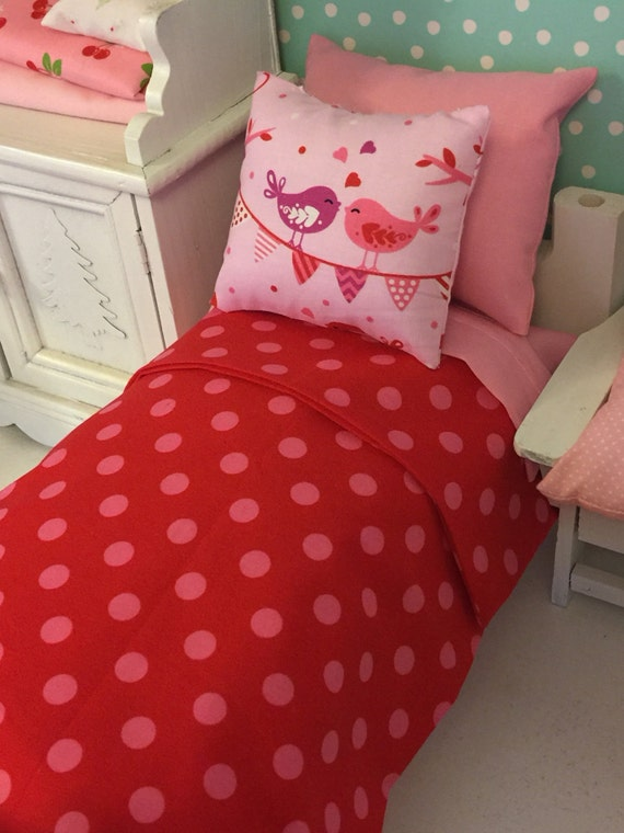 "Blythe/Barbie Valentine Doll Bedding and Comfort Mattress- 11"" fashion doll size"
