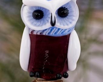 Dorothy......... lampwork owl bead............ sra
