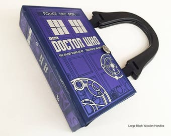 Doctor Who Book Purse - Police Call Box Book Clutch - Tardis Book Cover Handbag - Whovian Gift - 13th Doctor - Female Doctor Who