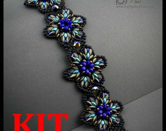 kit- Starburst Bracelet- blue- Beadwoven bracelet kit