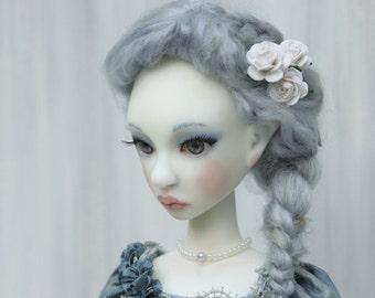 Artist BJD ooak Cerridwen, full set white skin #1, slim MSD 40 cm, art doll of resin by miradolls