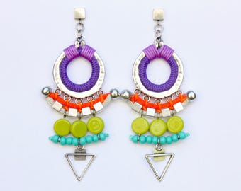 GETSEMANÍ colorful statement earrings