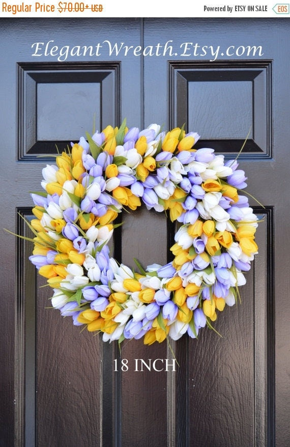 SPRING WREATH SALE Spring Wreath- Door Wreath- Easter Wreath- Tulip Wreath- The Original Tulip Wreath, Custom Sizes and Colors
