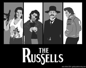 "Kurt Russell Illustration ""The Russells"""