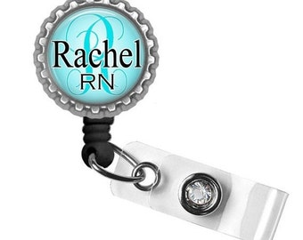 Personalized ID Badge Holder (Aqua) - Nursing Student, Gifts for Nurses, Graduation Gift, Thank You Gift, Gifts for Her