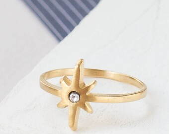 On Sale 20% Off, Comet Ring, geometric ring, signature ring, star ring