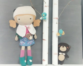 Studio Doll Large - Astrid. Handmade, Doll, Eco Friendly, Plush, Toy, Children, Gift