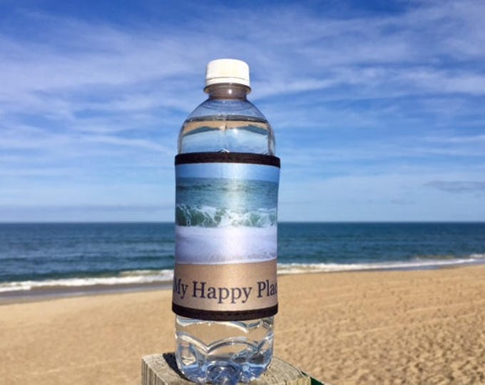 This is my happy place  beer can cooler OBX beach wedding favor welcome bag Outer Banks bridesmaids Beach House Dreams HomeOBX