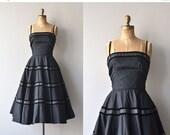 25% OFF THE SHOP... Libretto dress | vintage 1950s dress | black 50s party dress
